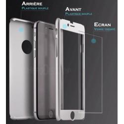 Coque IPhone 7 Full protect 360 avec verre trempé intégré - Différent coloris