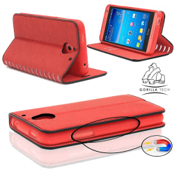 Etui Samsung Galaxy J3/J3 2016 Wallet Style 2 - Gorilla Tech - Différent coloris