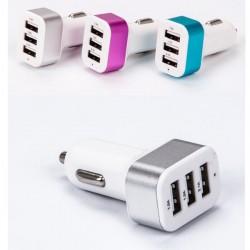 Chargeur voiture Triply 3 port USB - Différents coloris