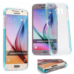 Coque Samsung Galaxy S6 Edge Fluidy slim - Gorilla Tech - Différent coloris de contour